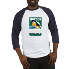 Matson Lines Luggage Label Baseball Jersey