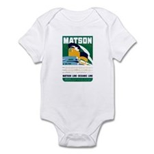 Matson Lines Luggage Label Infant Bodysuit