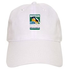 Matson Lines Luggage Label Baseball Cap