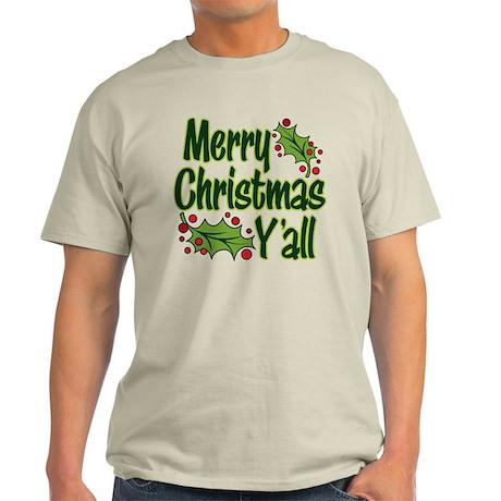Christmas Gifts gt; Christmas Mens gt; Merry Christmas Y39;all Light TShirt