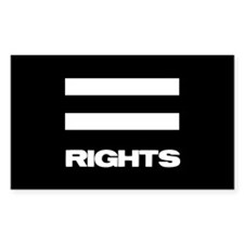 EQUAL RIGHTS - Rectangle Sticker 10 pk)