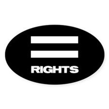 EQUAL RIGHTS - Oval Sticker (50 pk)