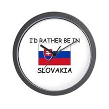 I'd rather be in Slovakia Wall Clock