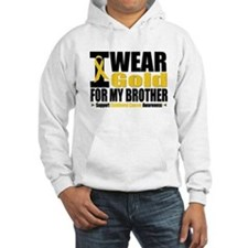 I Wear Gold For My Brother Hoodie Sweatshirt