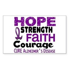 HOPE Alzheimer's Disease 3 Rectangle Decal