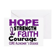 HOPE Alzheimer's Disease 3 Greeting Cards (Pk of 2