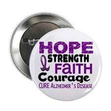 "HOPE Alzheimer's Disease 3 2.25"" Button (100 pack)"