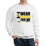 I Wear Gold Ribbon For Me Sweatshirt