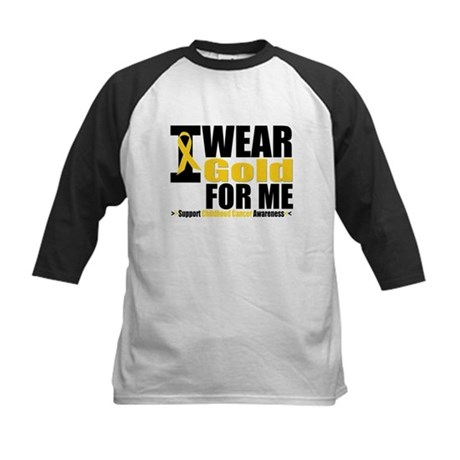I Wear Gold Ribbon For Me Kids Baseball Jersey