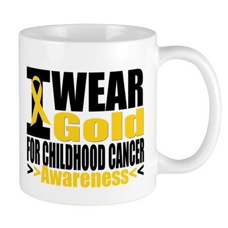 Childhood Cancer Gold Ribbon Mug