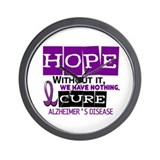 HOPE Alzheimer's Disease 2 Wall Clock
