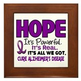 HOPE Alzheimer's Disease 1 Framed Tile