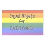 equal rights for everyone Rectangle Sticker 50 pk