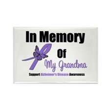 Alzheimer's Memory Grandma Rectangle Magnet