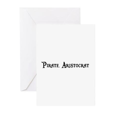 Pirate Aristocrat Greeting Cards (Pk of 10)
