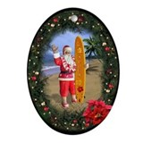 "Oval Ornament ""Mele Kalikimaka"""