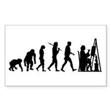 Artist Painter Fine Arts Rectangle Decal