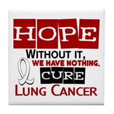HOPE Lung Cancer 2 Tile Coaster