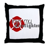 Cool Fireman fiancee Throw Pillow