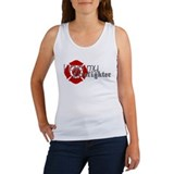 Cute Firefighter Women's Tank Top