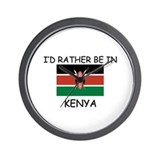 I'd rather be in Kenya Wall Clock