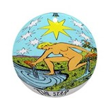 """The Star Tarot Card"" Ornament (Round)"