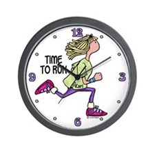 Time to run - Kari Wall Clock