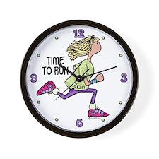 Time to run - Kari Wall Clock