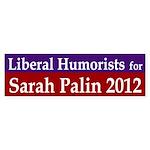 Liberal Humorists for Sarah Palin bumper sticker