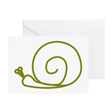 Green Snail Greeting Card