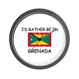 I'd rather be in Grenada Wall Clock