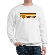 I Love (Heart) Euchre Sweatshirt