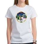 XmasMusic 3/ St Bernard #1 Women's T-Shirt