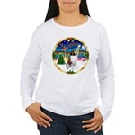 XmasMusic 3/ St Bernard #1 Women's Long Sleeve T-S