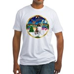 XmasMusic 3/ St Bernard #1 Fitted T-Shirt