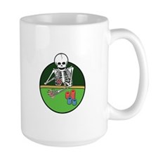 Skeleton Poker Player Mug