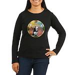 XmasMusic 3/Sib Husky Women's Long Sleeve Dark T-S