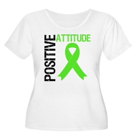 Lymphoma Positive Attitude Women's Plus Size Scoop