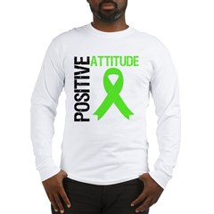 Lymphoma Positive Attitude Long Sleeve T-Shirt