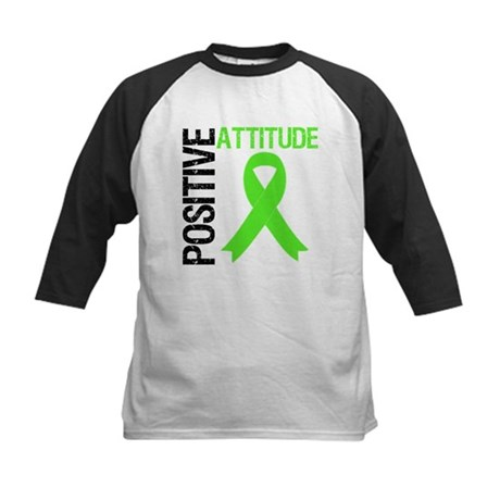 Lymphoma Positive Attitude Kids Baseball Jersey