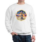 XmasStar/Silver Poodle #8 Sweatshirt