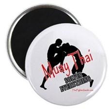 "Muay Thai Solves Everything 2.25"" Magnet (100 pack"