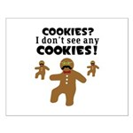 Gingerbread Man Disguise Small Poster