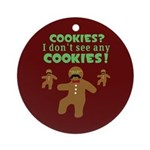 Gingerbread Man Disguise Ornament (Round)