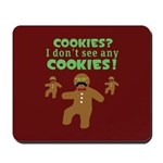 Gingerbread Man Disguise Mousepad