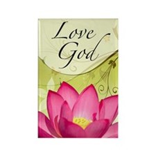 Love God-Rectangle Magnet