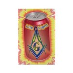 Masonic Lite Light Rectangle Magnet (100 pack)