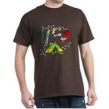 Four Agility Obstacles Dark Tee Shirt