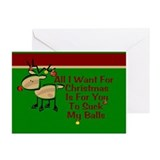 Adult christmas cards Greeting Cards (10 Pack)