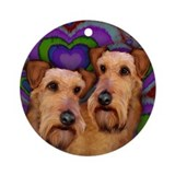 IRISH TERRIER DOGS LOVE Ornament (Round)
